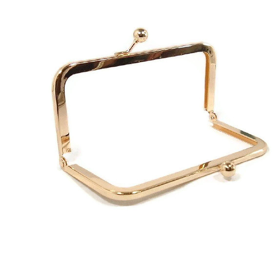 8 x 3 inches (20 x 7.5 cm) Gold Brass Purse Frame - 12 Pieces