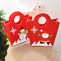 1PC Non Woven Red Stockings Gift Holders Shopping Gift Bags Suppliers Merry Christmas Xmas Gift Bags