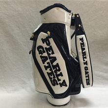 Brand New Pearly Gates PG89 Golf Standard Package Pearly Gates PU Golf Bag  White Color Golf 34c5beedf127