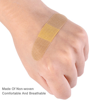100Pcs/Pack Non-woven Wound Adhesive Plaster Medical Anti-Bacteria Band Aid Bandages Sticker Home Travel First Aid Kit Supplies 5