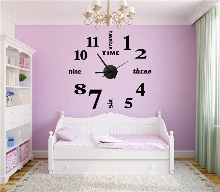 watch wall clock modern math horloge vintage wall wanduhr mirror silent sticker living room quartz klok watch decor for home  (12)