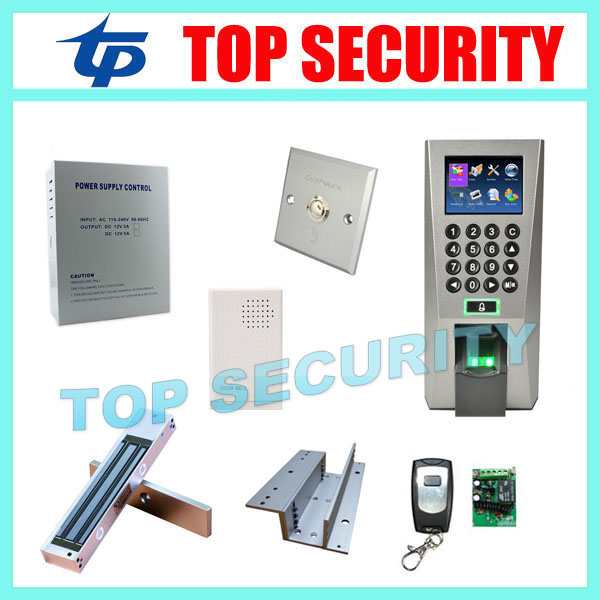 ZK linux system F18 biometric fingerprint access control system DIY fingerprint door access control with EM lock power and so on