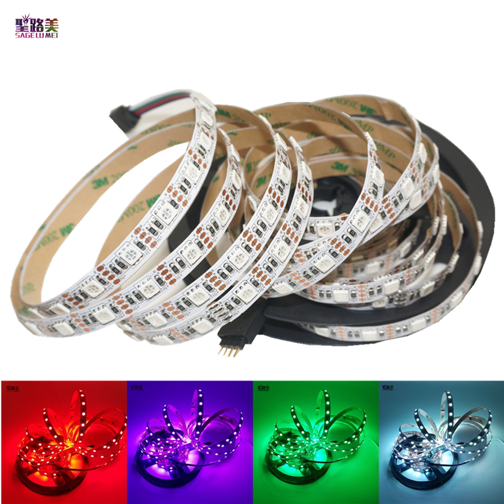 5m/lot DC5V RGB /White Color Flexible Led Strip Light 5050 SMD Ribbon Adhesive Tape TV Background Lighting IP20/ IP65 Waterproof