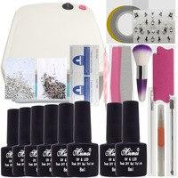 Manicure Nail Kit Set Gel Varnish Set 6 Color UV Gel Polish 36W LED Lamp Gel Varnish Nail Polish Set UV Machine