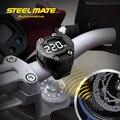 Steelmate DIY TP-90 Tire Pressure Monitor de Sistema TPMS Motocicleta Impermeable 2 Sensor Externo Inalámbrico Pantalla LCD