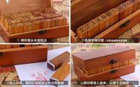 70 pçs/set Vintage DIY Multiusos Regular Script Número Minúsculas Do Alfabeto Carta Decoração Em Madeira Carimbos De Borracha Definir Caixa De Madeira
