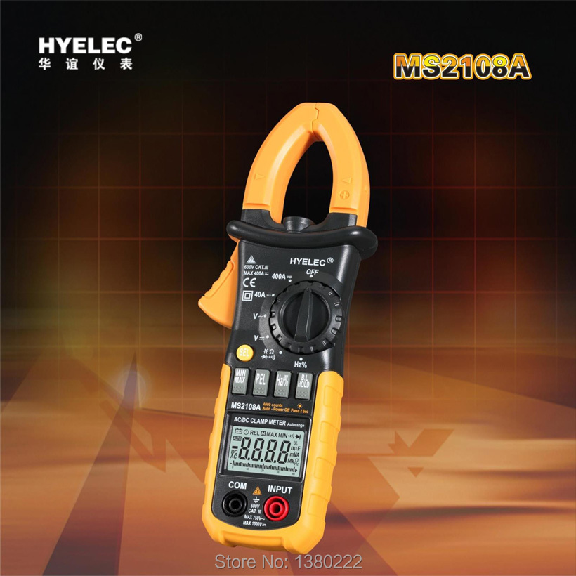 ФОТО HYELEC MS2108A 4000 Counts Digital Clamp Multimeter ACDC Voltage and Current / Resistance / Capacitance / Frequency / Duty Cycle