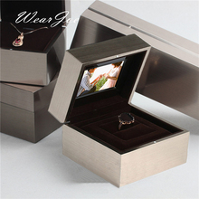 2017 Top Grade Stainless Steel Music Video Player Jewelry Set Storage Show Box Wedding Ring Pendant