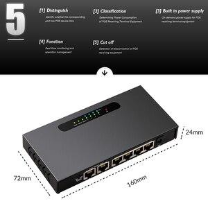 Image 2 - 6 יציאת POE מתג Ethernet מתג עם 48 V כוח מתאם עבור רשת IP מצלמות או אלחוטי AP/4 poE יציאות מתאים עבור טלוויזיה במעגל סגור