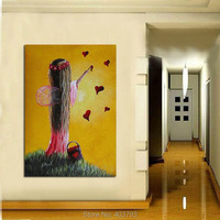 Pure Hand paint modern abstract oil painting on canvas No frame wall art home decoration christmas gifts