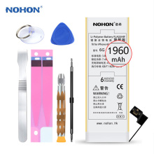 Original NOHON Lithium Polymer Battery For Apple iPhone 6 6G Internal Batteria High Capacity 1960mAh Free Tools Retail Package