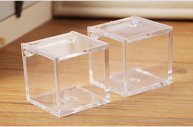 6x6x6cm Clear acrylic cube box  plastic transparent gift box Wedding gift storage box  plastic & 6x6x6cm Clear acrylic cube box  plastic transparent gift box ...