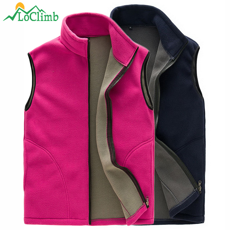 LoClimb Männer Frauen Polar Fleece Wandern Weste Winter Outdoor Sleeveless Jacke Softshell Beheizte Ski Sport Westen Westen, AM131