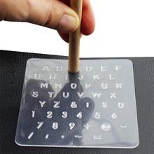 1 Juego de Herramientas de Sello de cuero DIY plástico estampado alfabeto letra número herramienta de cuero sello de cera herramienta de impresión de sello