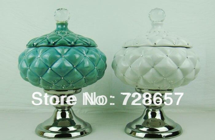 Paire de pots en porcelaine et céramique de qualité supérieure pour la décoration de la maison, la décoration de Festival, le stockage d'articles divers et la Collection d'art