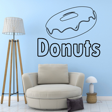 Fashion domut Wall Stickers Vinyl Waterproof Home Decoration Accessories Removable Sticker Decor Decals