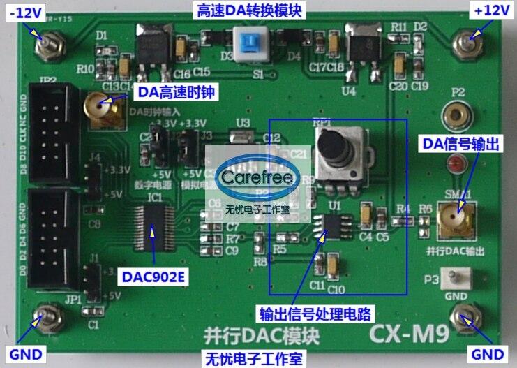 High speed DA digital analog conversion module (DAC902E) (12Bit, 165MSPS) k654 420 frequency conversion speed control module