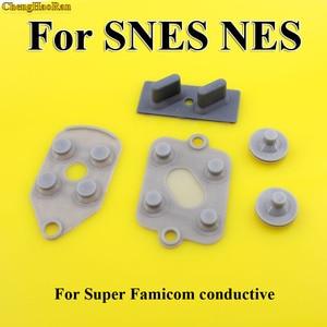 Image 2 - 5pcs/set 2 10 sets High Quality For SNES Super NES Nintendo Conductive Replacement Controller Rubber Pads