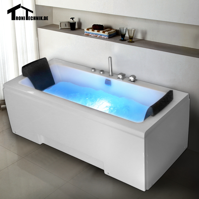 1700mm Whirlpool Bath Shower air Massage 250L Bathtub Piscine Wall ...