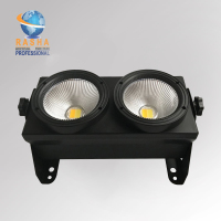 Rasha 2 Eyes 2*100W 2in1 COB WW/CW Warmwhite/Coolwhite LED Blinder Light Stage LED Audience Studio Blinder Light Theater Light