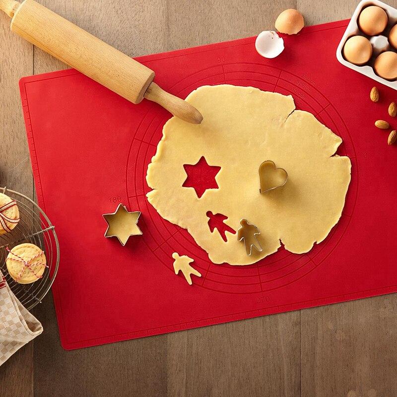 Силиконовая подкладка для замешивания теста 62*42 бытовой Управление нескользящей подошве инструменты для выпечки торта кухонные Инструменты для декорирования инструменты для приготовления пищи