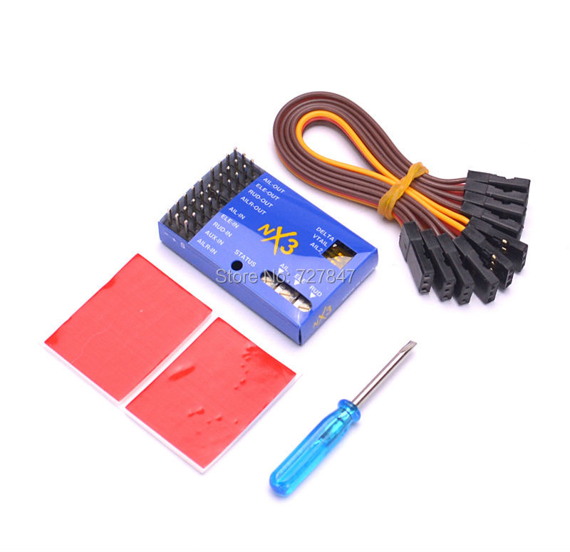 New generation of fixed-wing flight gyro balancer NX3 3D flight control board big game strong super power hercules 100