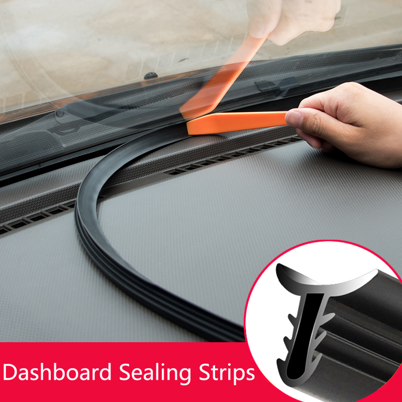 Car Soundproof Rubber Seal Dashboard Sealing Strip Styling Sticker For <font><b>Audi</b></font> A3 A4 A5 A6 A7 <font><b>A8</b></font> B6 B7 B8 C5 C6 TT Q3 Q5 Q7 S3 S4 image