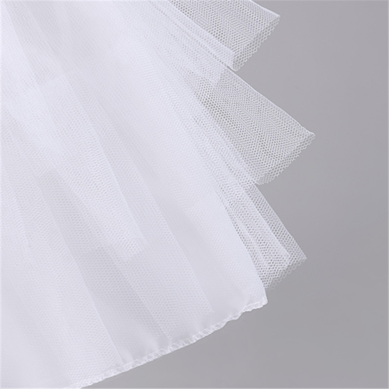 Short Children Petticoat for Formal Flower Girl Dresses 3 Layers Hoop Ruffle Petticoat Crinoline Underskirt Wedding Accessories in Petticoats from Weddings Events