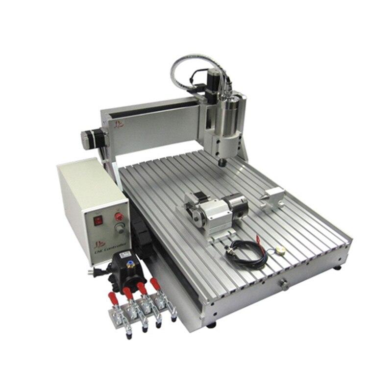 Russie taxe gratuite mini carte de CNC pcb machine de forage 6090 passe-temps 4 axes CNC routeur gravure sur métal 1500 W broche de refroidissement par eau