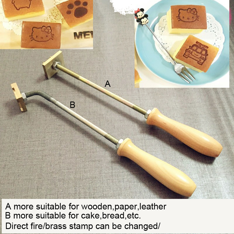 Customized metal stamp iron for Cake cookie sweets logo  Burning Mold Stamp ,Iron Brass Mold Burning Handle xeltek private seat tqfp64 ta050 b006 burning test