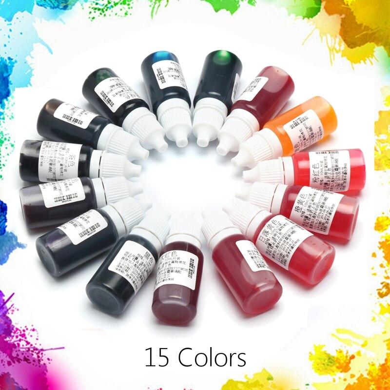 Beste Preis 15 Teile/satz 10 ML 15 Farben Epoxidharz Pigment UV harz Färben Farbstoff Farbstoff Harz Pigment DIY Handgemachte Handwerk Kunst werkzeug