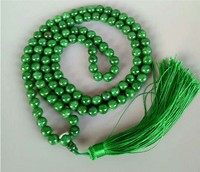 Yu bracelet natural genuine a product 108 buddhist beads male dry green hot green yu hands rosary beads women/