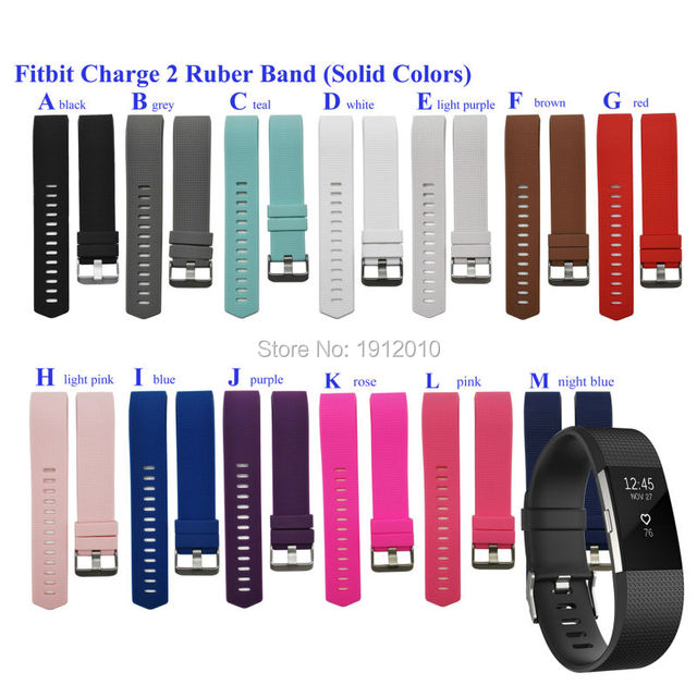 Fitbit Charge 2 Band, Replacement Rubber Band Strap for