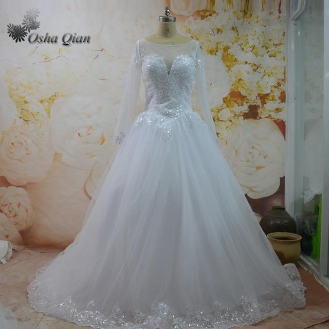 Women Bling Princess Wedding Dresses Lace Tulle Bridal Gowns Zipper ...