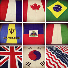 Neckerchief Bandanas Scarf Flag-Series Brazil Mexico Cotton Headwear/hair Hip-Hop Punk
