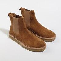 2017 Winter Chelsea New Arrival All Matching Platform Unisex Boots Vintage Botas Kanyer West Shoes