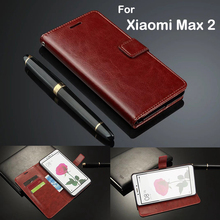 Original Fundas For Xiaomi Max 2 Case 6.44 Cover Luxury Leather Flip Wallet Mi Women Men Coque