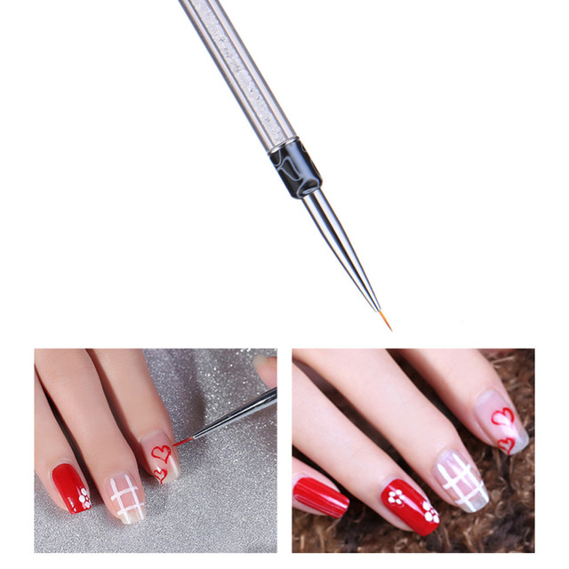 Crystal nail art pen brushes gel nail brushes sculpture dotting crystal nail art pen brushes gel nail brushes sculpture dotting paint pen for salon outline fine prinsesfo Images