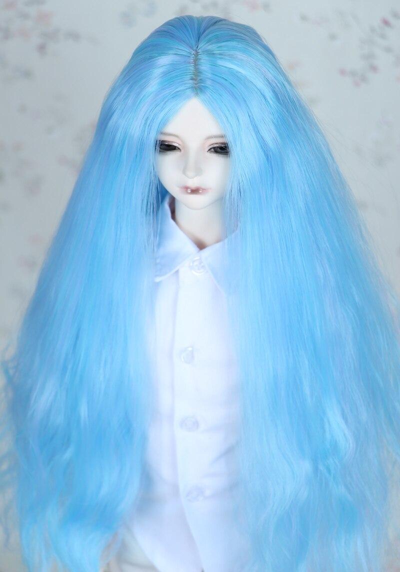 1/3 BJD парик Pullip Даль DD SD LUT Dollfie Куклы парик высокой Температура волос 8-9 дюймов длинные синие парик