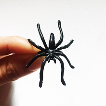5*3*2cm 150 Pcs Plastic Spider Ring Black Halloween Jewelry Insect Long Legs Spiders Feet