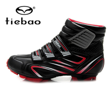 TIEBAO Professional Bycling Cycling Shoes Men Women MTB Mountain Bike Racing Windproof Athletic Self-Locking Ankle Boots