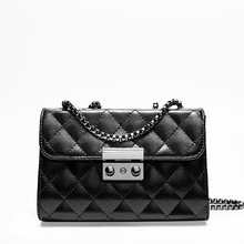 European and American style chain-style handle leather women's bag fashion rhombic chain single shoulder women leather handbags xiyuan brand women spring and summer new european and american style leather handbag ladies chain shoulder handbags big bag pink
