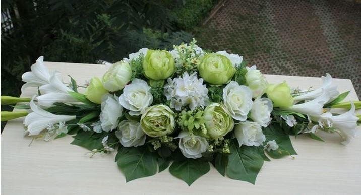 Silk Flower Conference Table Flower Arrangement Centerpieces Flowers