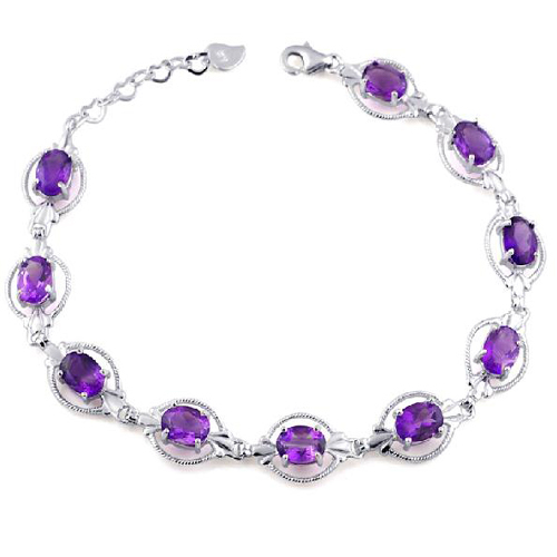 2017 Limited Sale Plant Qi Xuan_Free Shipping Purple Stone Elegant Bracelets_S925 Silver Bracelets_Manufacturer Directly Sales