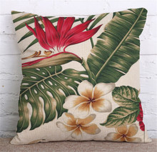 Tropical Plants Pillow Case Cover