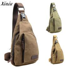 Male Shoulder Bags Canvas Crossbody Bags Men Anti Theft Chest Bag School Summer Short Trip Messengers Bag 2018 New Arrival