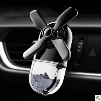 Black/Red Marine Windmill Aromatherapy Clip Auto Air Vent Freshener Car Accessories Car Air Fragrance & Deodorant HA154