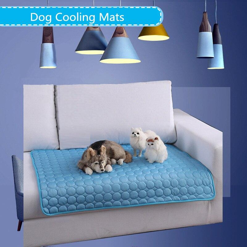 @1  Летние Собаки Охлаждающие Коврики Одеяло Лед Pet Кровать Коврики Собаки Кошки Диван Портативный Тур  ✔