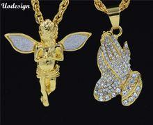 Подвески и ожерелья в виде руки ангела подарок брату золотой