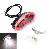 Motorcycle Headlight Headlamp 9 80V 15W Cat Eye Lens Super Bright Universal 3 LEDs Moto Accessories